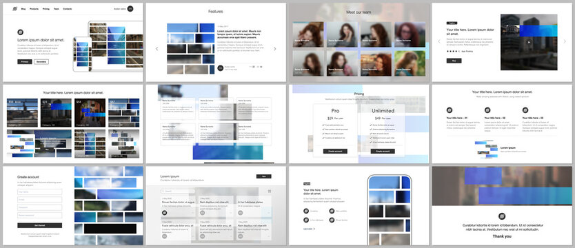 Vector templates for website design, presentations, portfolio. Templates for presentation slides, flyer, leaflet, brochure cover. Corporate business identity style for any purposes. Business template.