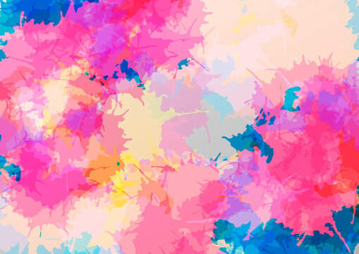 Abstract vector splatter color modern design background. illustration vector design.