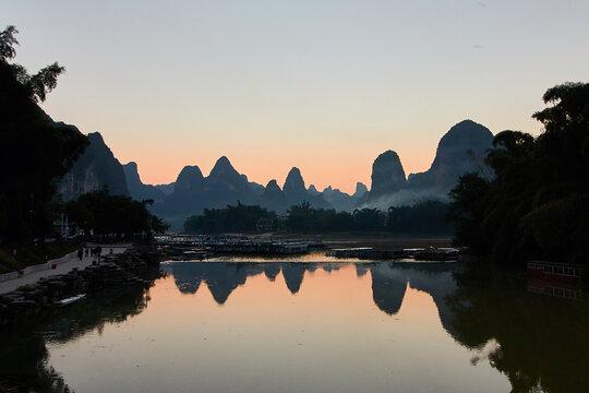 Sonnenuntergang Xingping am Li River