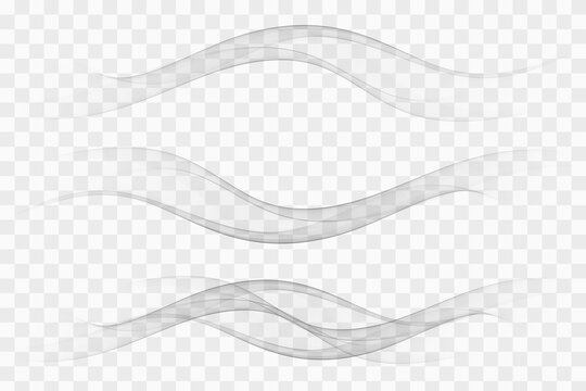 Modern futuristic soft smoke gradient flow lines collection. Vector illustration