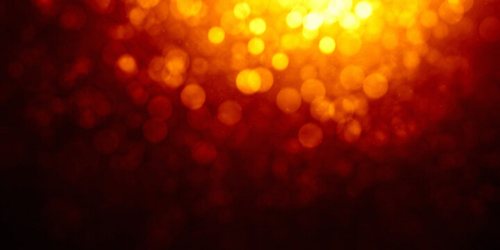 abstract blurred defocused gold yellow bokeh light background