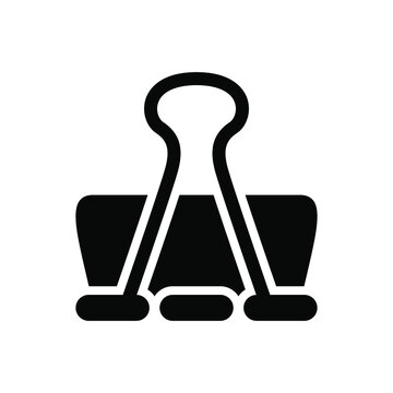Binder clip icon vector graphic illustration
