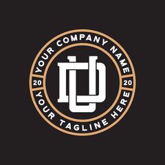 Obraz du monogram logo design vector - fototapety do salonu
