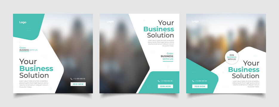 Digital business marketing banner for social media post template