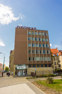 POZNAN, POLAND - Apr 20, 2017: Geomat office building