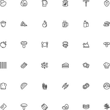 icon vector icon set such as: lamb, hard, transparent, roast, cutlery, one, sketch, spare, profession, slice, banner, cup, veggie, flavor, dog, person, ribs, glazed, donut, shell, stuffed, mocha