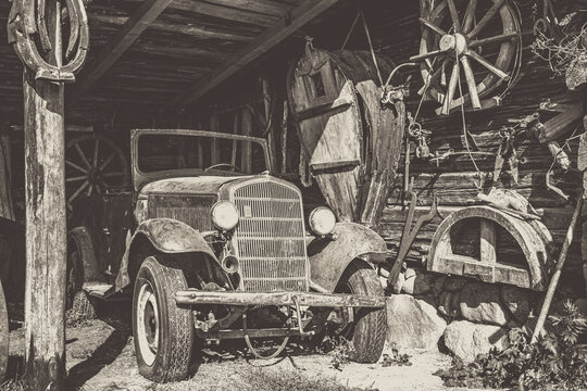 Oldtimer found in an old barn