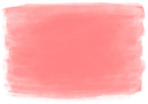 Dusty rose horizontal watercolor background with paper texture. Created with real brush strokes. Vector.