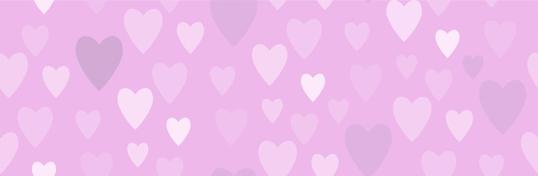 Pattern with tender hearts. Vector image