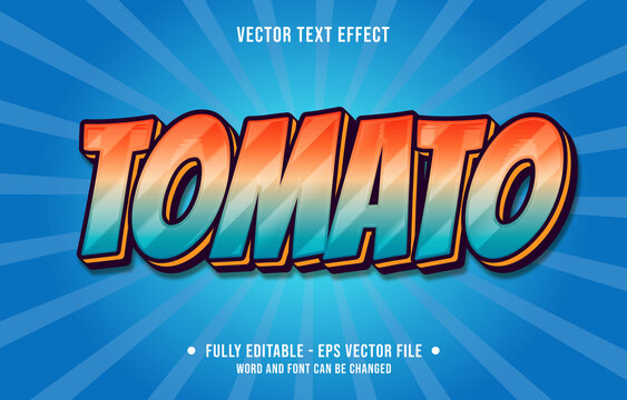 Editable text effect - tomato orange gradient color modern style