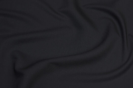 Fabric suit black stretch out of wool luxurios material