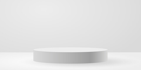 White circle stage background vector illustration - fototapety na wymiar
