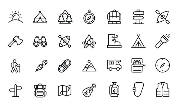 Camping Icons vector design