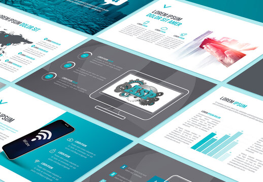 Blue Style Business Pitch Deck Layout