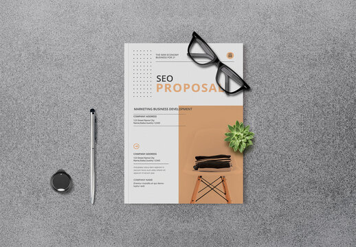 SEO Proposal with Pink Layout