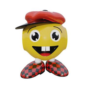 lachendes Roboter Emoticon mit Cappy.