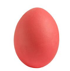 red egg isolared on white bakground