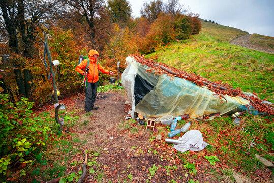 Shepherds hut in the Carpathians.