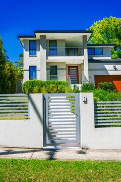 Modern house street front