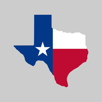 Vector Texas Flag Map Illustration