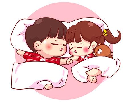Together cute sleeping couples 6 Weird
