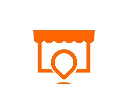 minimal store location logo