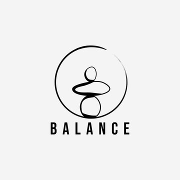 wellness balance stone logo vector illustration design. zen template symbol