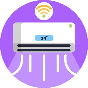 Smart home flat icon. Vector illustration.