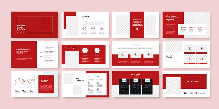 Business minimal slides presentation template