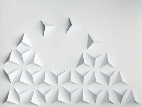Abstract paper concepts origami