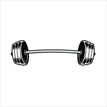 The barbell icon is isolated on white background from gym and fitness collection. Trendy barbell icons and modern barbell symbols for logos, web, apps, UI. Simple barbell sign icon.