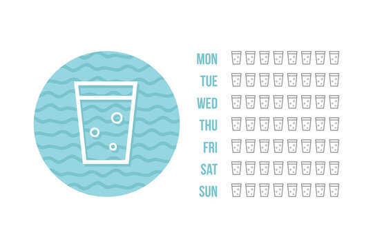 Printable water tracker for week or month. Bullet journal water tracker sticker. Drinking enough water challenge.