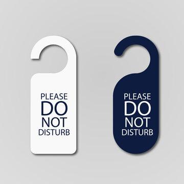 Hotel room door hanger. please Do not disturb label