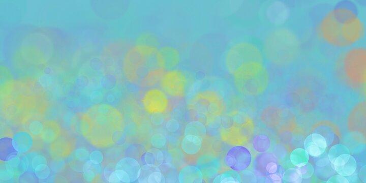 Sfondo azzurro con bokeh colorato
