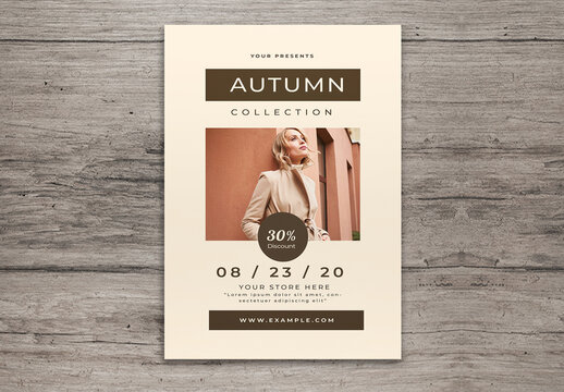 Autumn Collection Flyer Layout