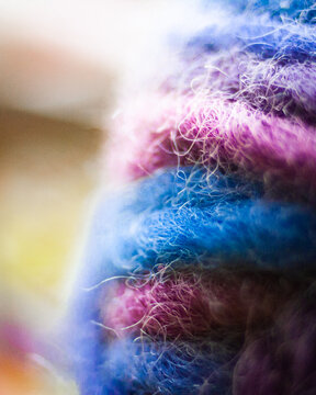 Colorful Synthetic Wool