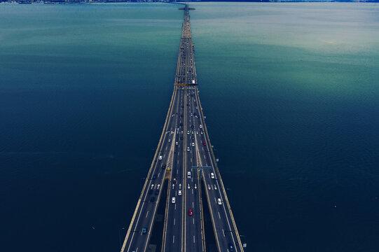Beginning Of Penang Bridge Malaysia