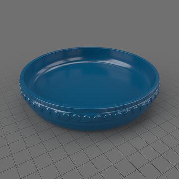 Large ceramic pie dish