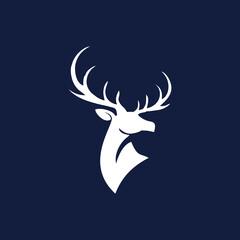 Fototapeta deer head vector, deer head icon, vector art.