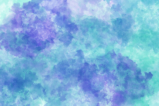 Abstract purple blue teal sponge textured background