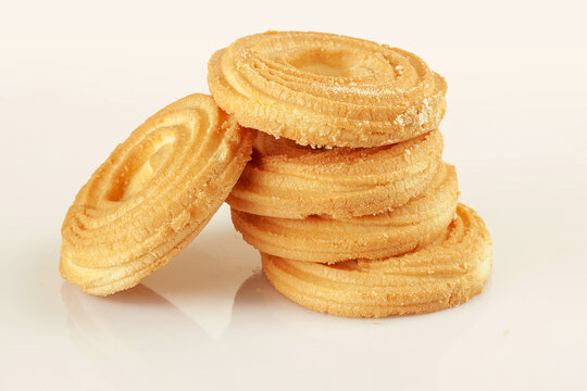 Five fresh delicious butter cookies