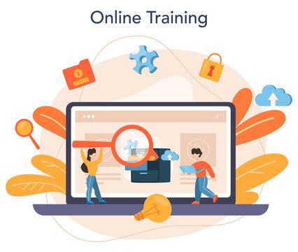 Data base administrator online service or platform. IT