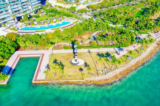 Miami Beach South Pointe park aerial
