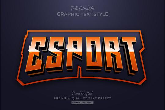 Esport Team Orange Editable Text Effect Font Style