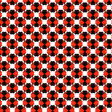 red pattern and radioactivity black
