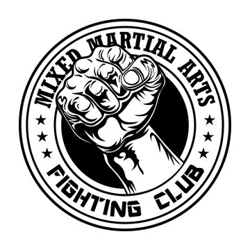 Fight club emblem with fist