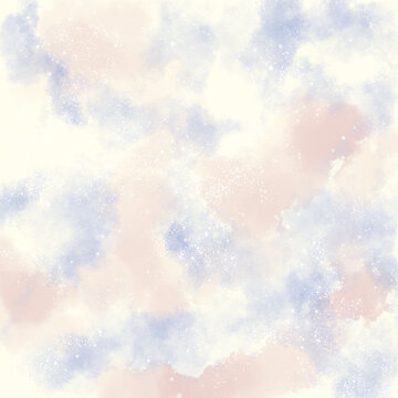 Pastel background cosmos, clouds and stars