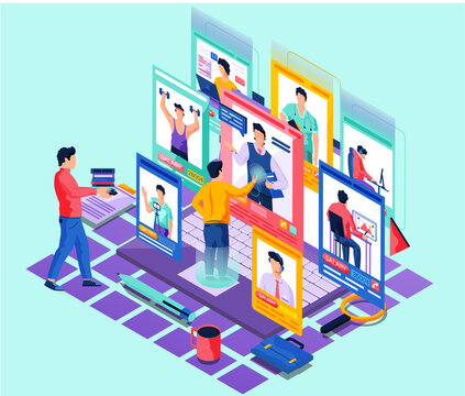 Paycheck salary mobile application page onboard screen set. Employees various specialties get earning. Cartoon vector illustration with businessman employer and male workers of online professions