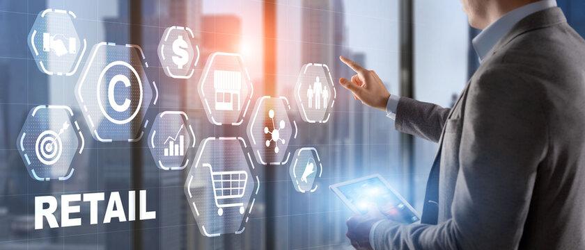 Online retail business. Marketing on social media network platform.