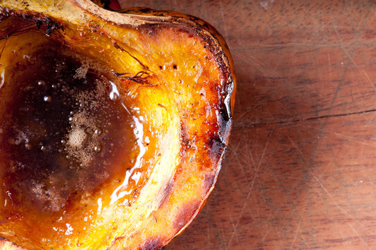 acorn squash with melted butter and brown sugar